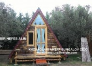 Kazda�lar� ah�ap bungalov