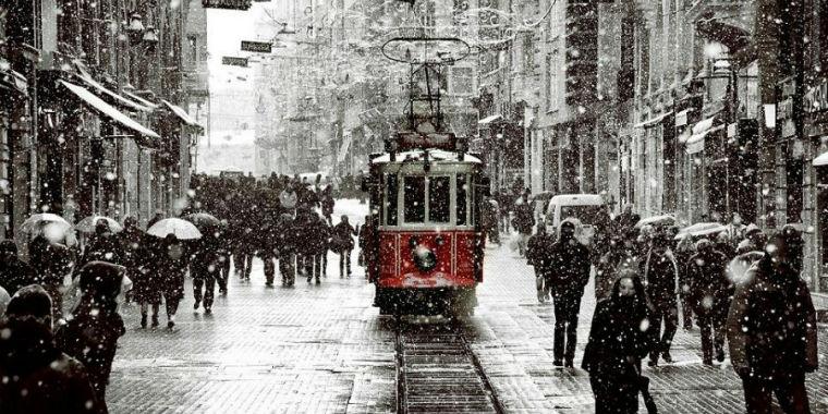 istanbul kar manzarası