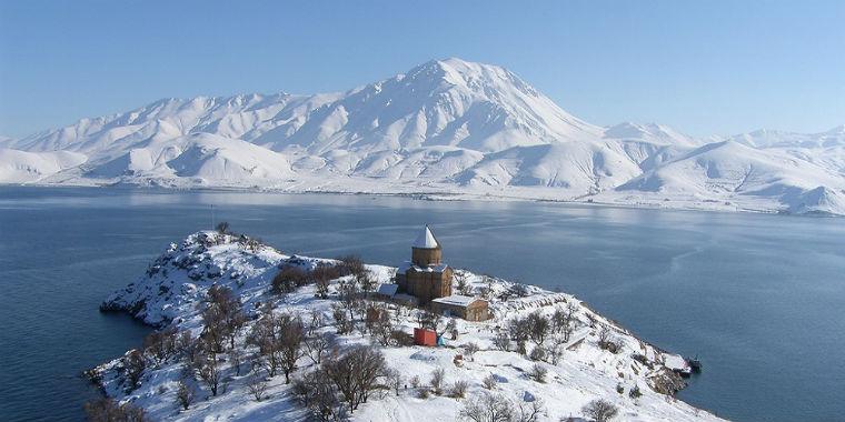 van gölü kar manzarası
