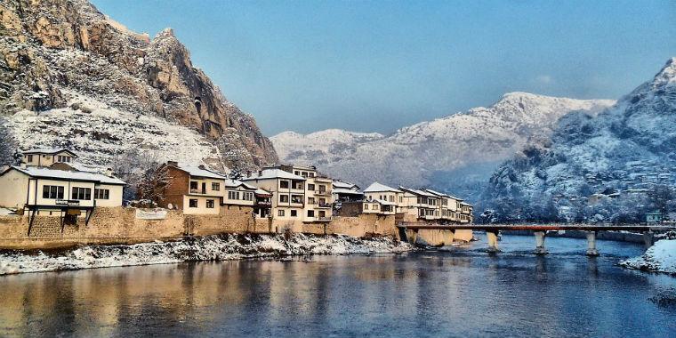 amasya kar manzarası