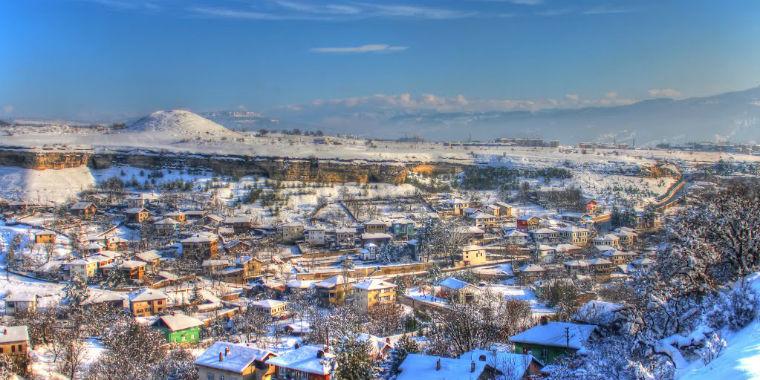 safranbolu kar manzarası