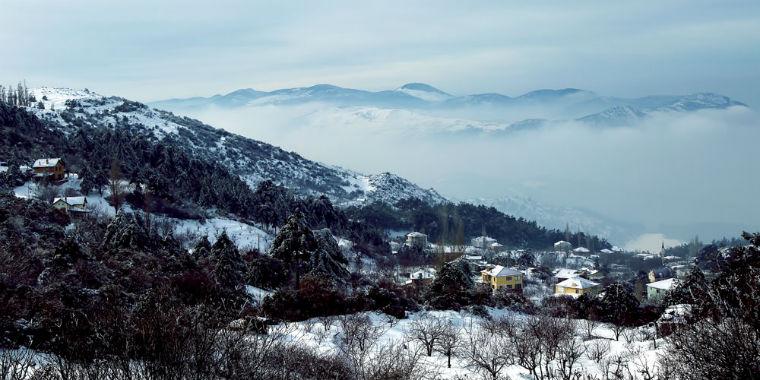spil dağı kar manzarası