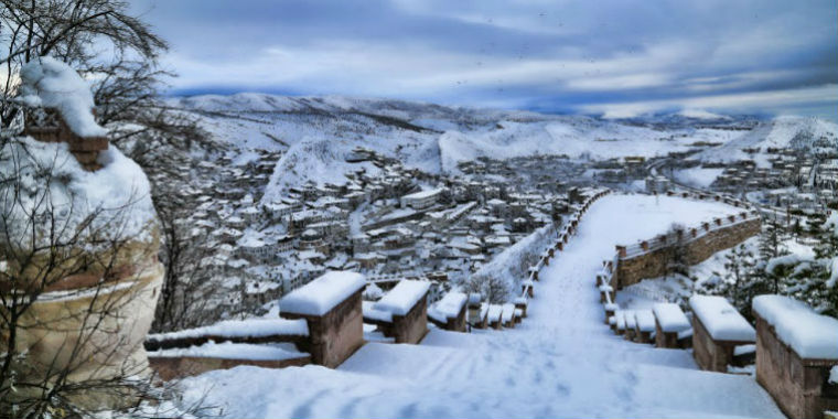 beypazarı kar manzarası