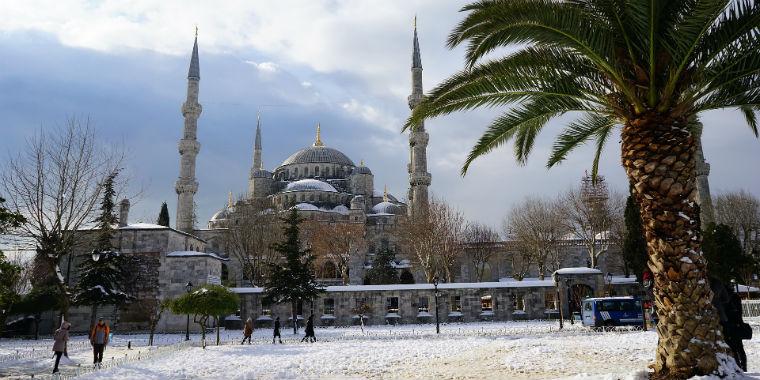 edirne kar manzarası