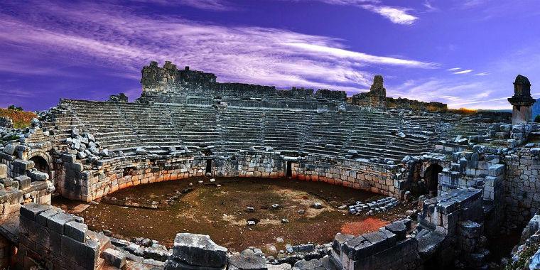 ka� xanthos antik kenti