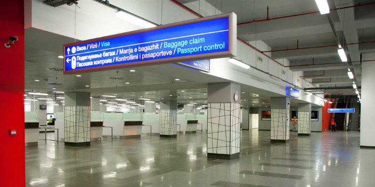 Üsküp havaalanı gümrük