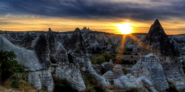 kapadokya günbatımı