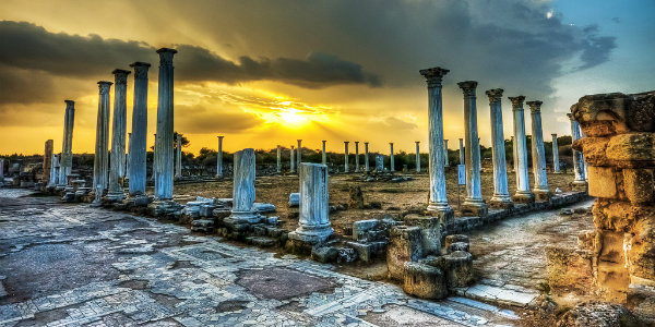 Gine kıbrıs salamis antik kenti