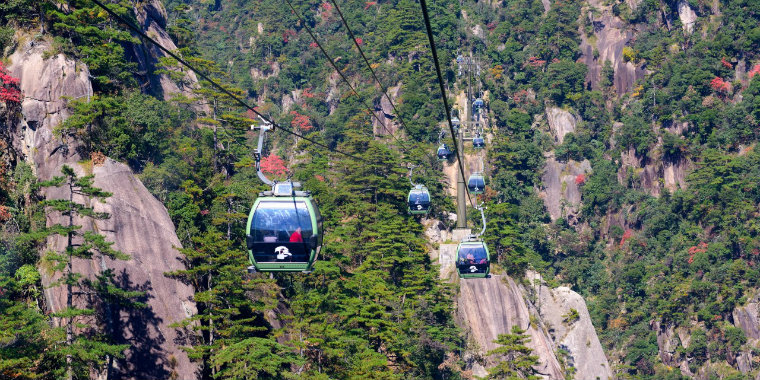 The Yellow Mountains Cable Cars